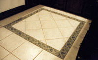 A border of handmade tiles can greatly increase the beauty of any  commercial tile floor.