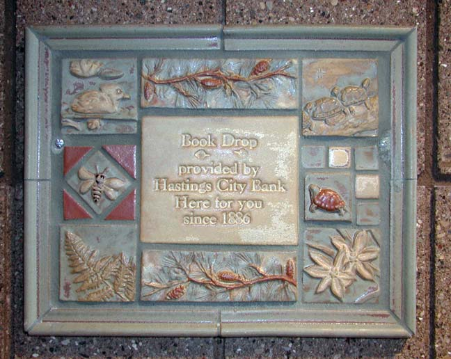Bookdrop tile panel