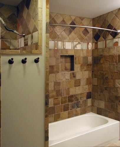 Bath stone with tile