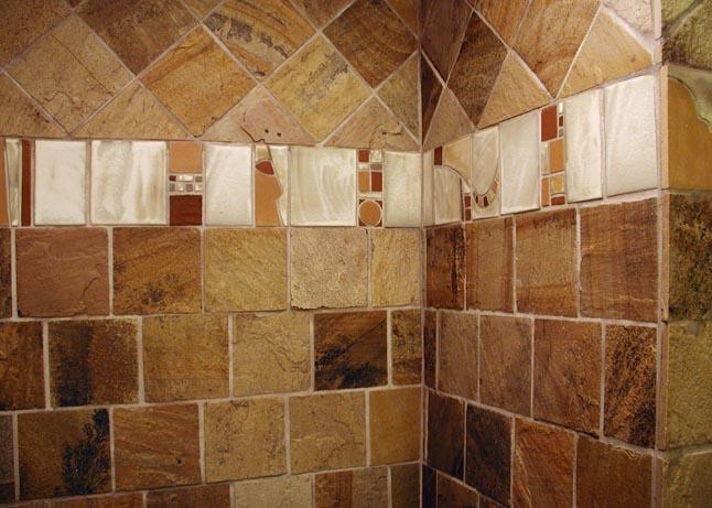 Close up tile view