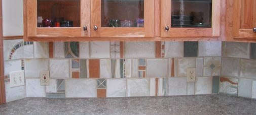 Section of backsplash